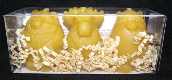 Beeswax Candles - Spirit Animals, Bear-Moose-Raccoon